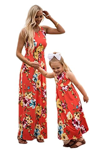 Mother Daughter Costumes Matching - Mommy&Me Summer Family Matching Floral Dress