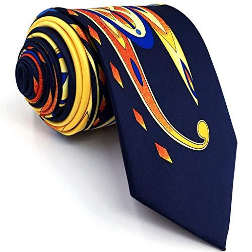 - S&W SHLAX&WING Mens Neckties Ties Printed Geometric Multicolor Silk New