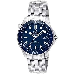 Omega Seamaster Steel on Dark Blue Rubber Strap Men's Watch 212.30.41.20.03.001
