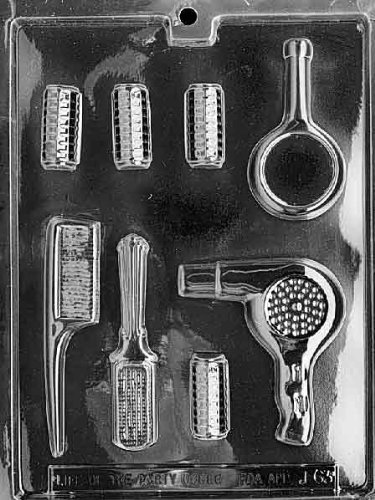 Beautician Set Chocolate Mold - J063 - Includes Melting & Chocolate Molding Instructions
