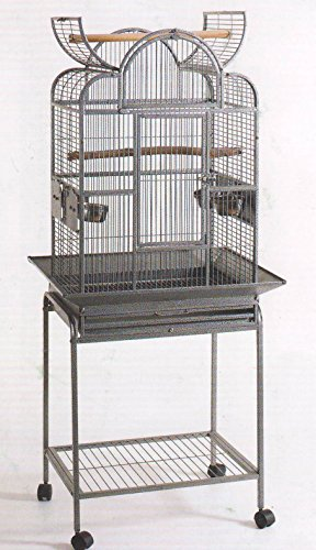 Open Play Top Wrought Iron Cage, Small Parrot Cage With Remo