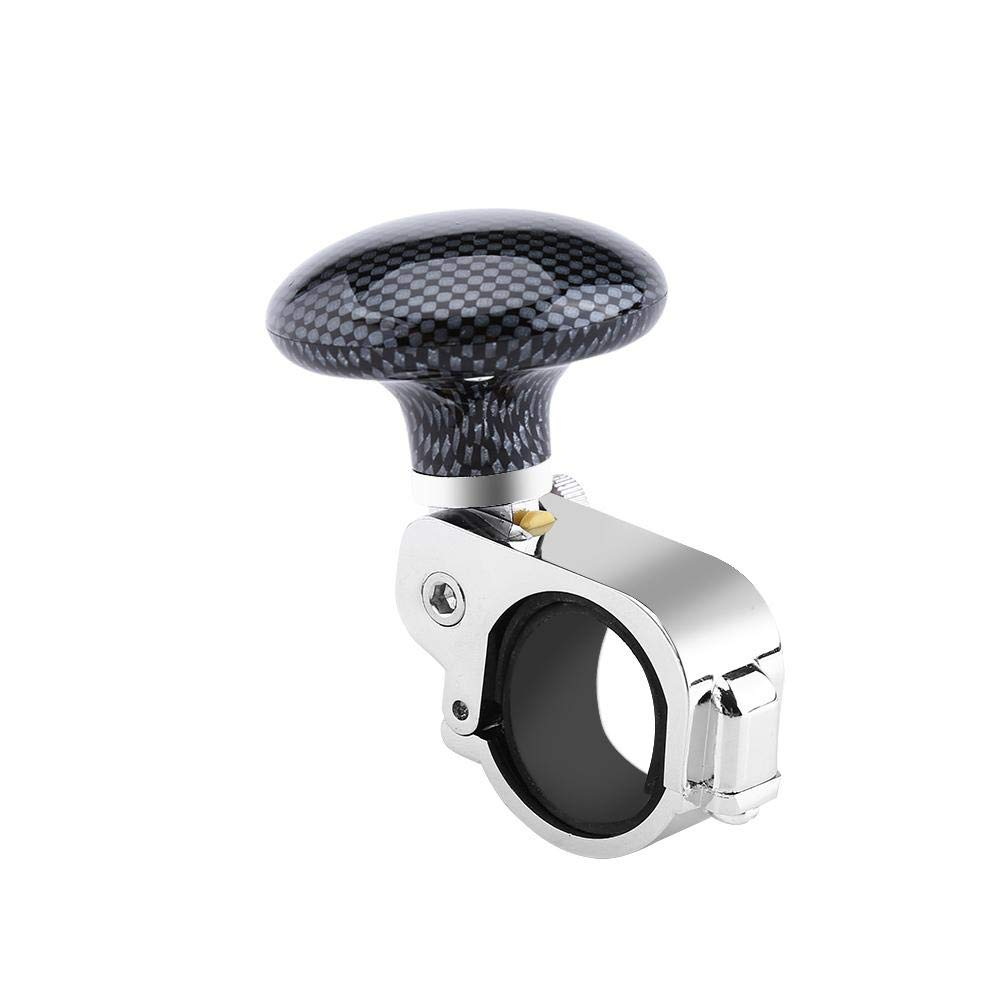Carbon Fiber Universal Car Steering Wheel Knob Spinner Handle Power Aid Ball Boosts Spin Knob Clamp for Car Auto Vehicle