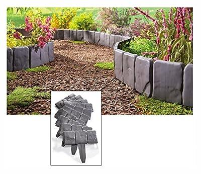 New Interlocking Faux Stone Border Edging, 10 Piece Garden Borders, Landscaping Look