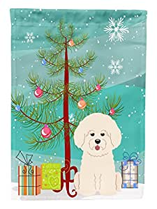 Caroline's Treasures BB4200GF Merry Christmas Tree Bichon Frise Garden Size Flag, Small, Multicolor