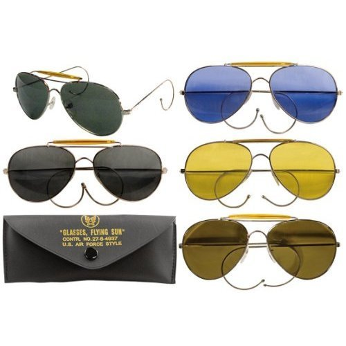 10200 Air Force Aviator Style Sunglasses (Yellow - Father's Day Sunglasses