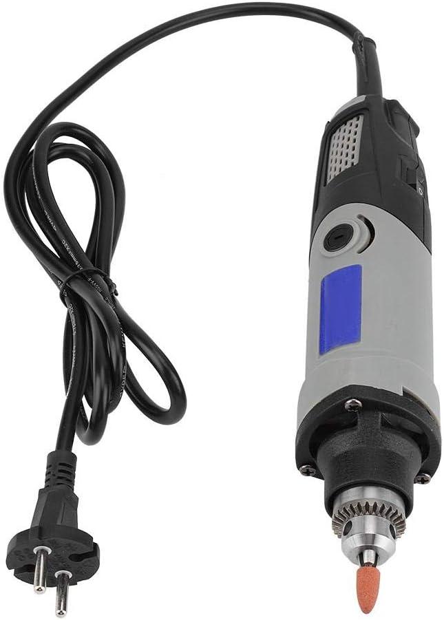 400 W - Grinder eléctrico robusto Power Drill Grinder Kit de herramientas giratorias con control de velocidad variable para tallar, cortar, moler pulido, punzón, enchufe UE 220 V