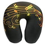 HCMEMORY Classical Style Printed Travel Pillow Neck Pillow U-Shape Pillow Health Soft U-Pillow with Resilient Material for Men/Women