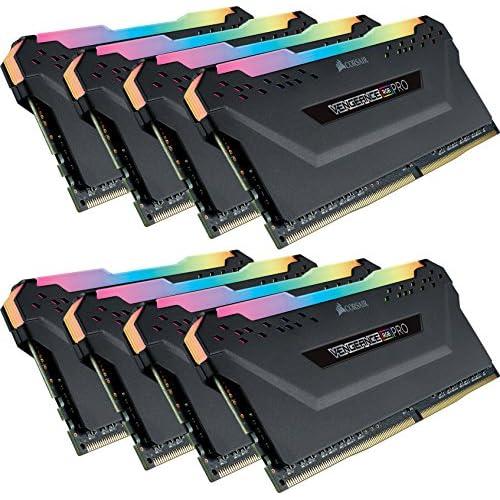 chollos oferta descuentos barato Corsair Vengeance RGB Pro Kit de Memoria Entusiasta 64 GB 8 x 8 GB DDR4 2666 MHz C16 XMP 2 0 Iluminación LED RGB Negro