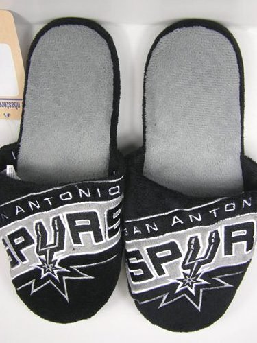 San Antonio Spurs NBA 2011 Big Logo Two Tone Hard Sole Slippers - XL