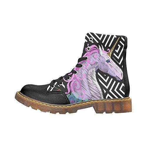 D-story Shoes Music Note Punta Tonda Stivali Da Donna Multi3