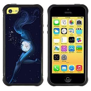 Suave TPU Caso Carcasa de Caucho Funda para Apple Iphone 5C / Angel Woman Underwater Magic / STRONG
