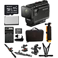 Sony HDRAS50/B Full HD Action Cam (Black) & Action Kit