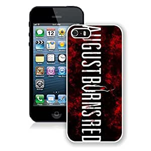 New Unique DIY Antiskid Skin Case For Iphone 5S August Burns Red iPhone 5s White Phone Case 021