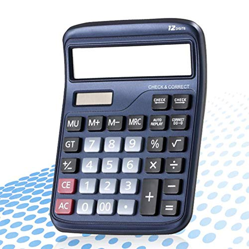 Calculator Solar Dual Power Desktop Office Financial 12 Digits Electronic by Calculator
