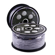 SKW Oxygen Free Copper Diy Speaker Cable Purple Car Audio Cable TV/DV AV Home Theater Decoration Buried Wall Use Line 14AWG 16AWG Gel Wire Cable (30M) (30M)