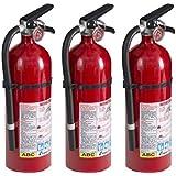 Kidde 21005779 Pro 210 Fire Extinguisher, ABC, 160CI, 4 lbs, 1 Pack (3 Pack)