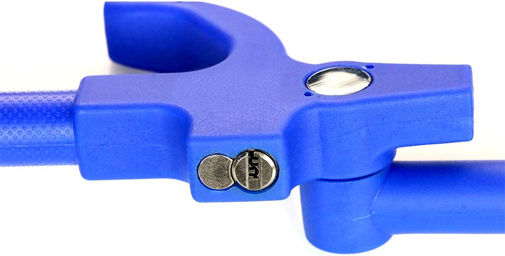 Anti-Bohren Anti-Verstellbare L/ängenklemme Doppelhaken 27,5-31,5 cm KAIRAY Auto Lenkradschloss Lenkradkralle Lenkradsperre Universalfahrzeug S-Grados Diebstahlsicherung Azul 2 Claves