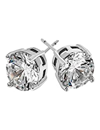 SO & CO New York Women's Ear Stud and Pouch, Clear