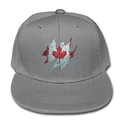 Solid Color Baseball Cap Adjustable Trucker Hats Canadian Flag Tear Boys-Girls