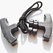 SHARROW Archery Cocking Devices Double Handle Crossbow Rope Cocking Tool Black Crossbow Cocker