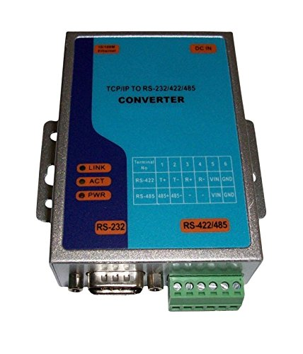 TCP/IP Ethernet RJ45 to Serial RS232 RS485 RS422 Max.921.6Kbps Serial Interface Converter Adapter Adaptor Flow Control None XON/XOFF RTS/CTS