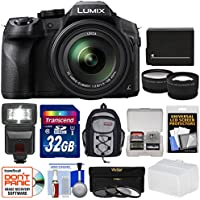 Panasonic Lumix DMC-FZ300 4K Wi-Fi Digital Camera with 32GB Card + Battery + Backpack + Flash + Filters + Tele/Widee Lens Kit Basic Facts Review Image