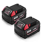 2Packs 18V M18 Replace REDLITHIUM XC 4.0 Extended Capacity Battery Pack for Milwaukee 48-11-1852