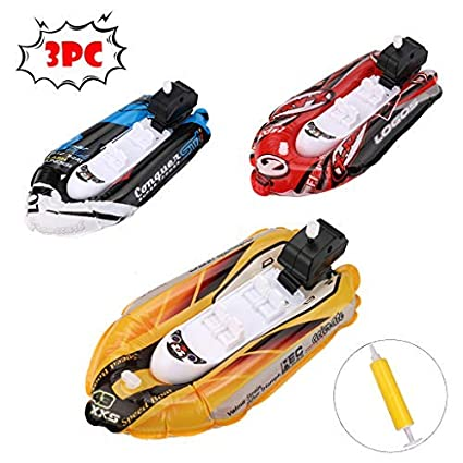 Mini Inflatable Yacht Boat Children/'s Bath Toys Pool Toys Motorboats Inflator US