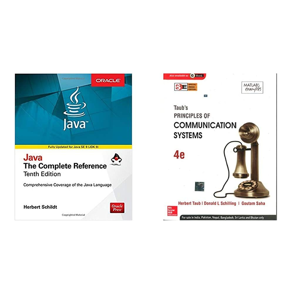 Java Complete Reference+Principle of Commn. Systems-CSE Sem 3 Combo (Set of 2 books)(New Edition)