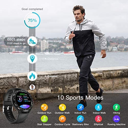CanMixs Smart Watch for Android iOS Phones, 1.3″ Touch Screen Bluetooth Fitness Tracker Watches for Men Women, IP67 Waterproof Activity Tracker with Heart Rate Monitor Sleep Compatible Samsung iPhone 5194JL595JL