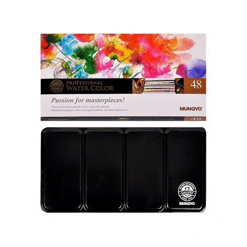 [Mungyo Professional Watercolor Paint Pans Set 48 Color MWPH-48C] (48 Color Set)