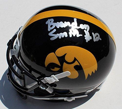 - Brandon Smith Signed Iowa Hawkeyes Mini Football Helmet w/COA C #1 - Autographed NHL Helmets and Masks