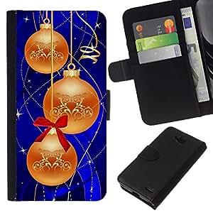 // PHONE CASE GIFT // Moda Estuche Funda de Cuero Billetera Tarjeta de crédito dinero bolsa Cubierta de proteccion Caso LG OPTIMUS L90 / Christmas Decorations /