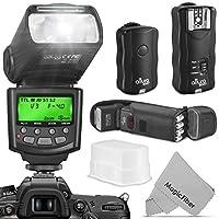 Kit de flash profesional Altura Photo para Canon DSLR con flash E-TTL AP-C1001, conjunto de disparador de flash inalámbrico y accesorios