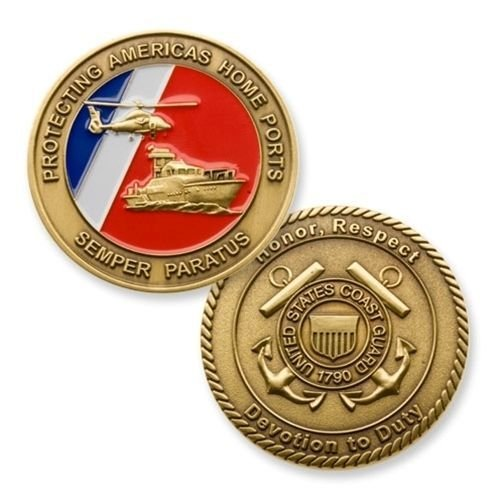 Us Coast Guard Challenge Coin - Coast Guard Challenge Coin - USCG Military Challenge coin - Coast Guard Veteran Coin - Designed by Military Veterans & Officially Licensed