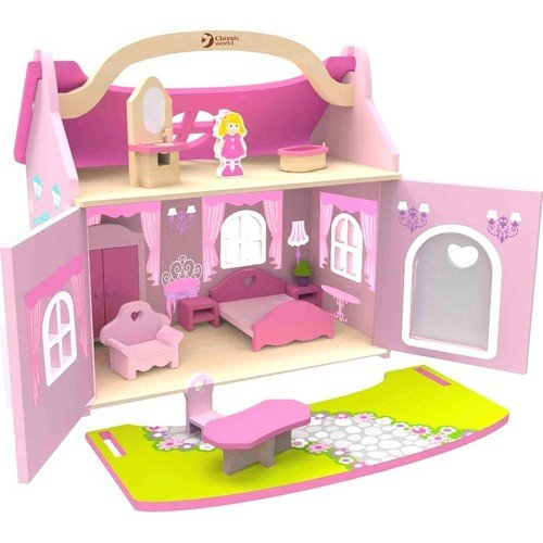 Serra Baby Wooden Princess Dream House Furnished by Serra Baby