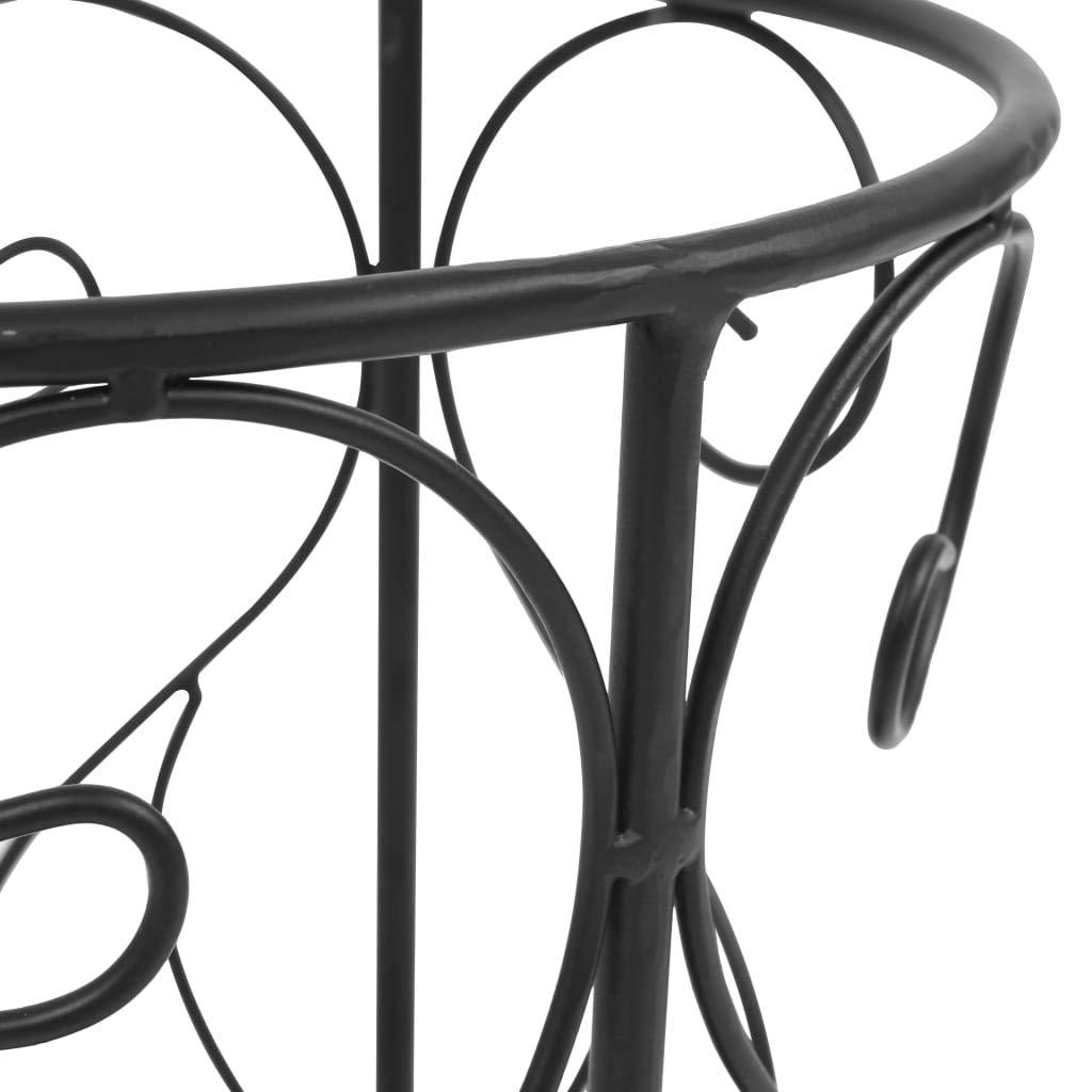Nishore Parag/üero Soporte de Paraguas Estilo Vintage Metal con Exquisitos Detalles Decorativos Scrollwork 26 x 46 cm Negro