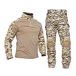 HXSZWJJ Uniformes Tactiques Hommes Ripstop Tenue de Camouflage Militaire Ensembles Costumes de sécurité de Combat… 7