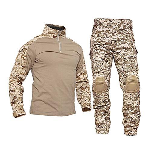 HXSZWJJ Uniformes Tactiques Hommes Ripstop Tenue de Camouflage Militaire Ensembles Costumes de sécurité de Combat… 1