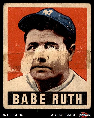 1948 Leaf # 3 Babe Ruth New York Yankees (Baseball Card) Dean's Cards AUTHENTIC (1948 New York Yankees)