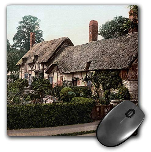 3dRose Russ Billington Designs- Old England Photographs - Anne Hathaway Cottage-Shakespeares Wife-Stratford-England - Mousepad (mp_255110_1)