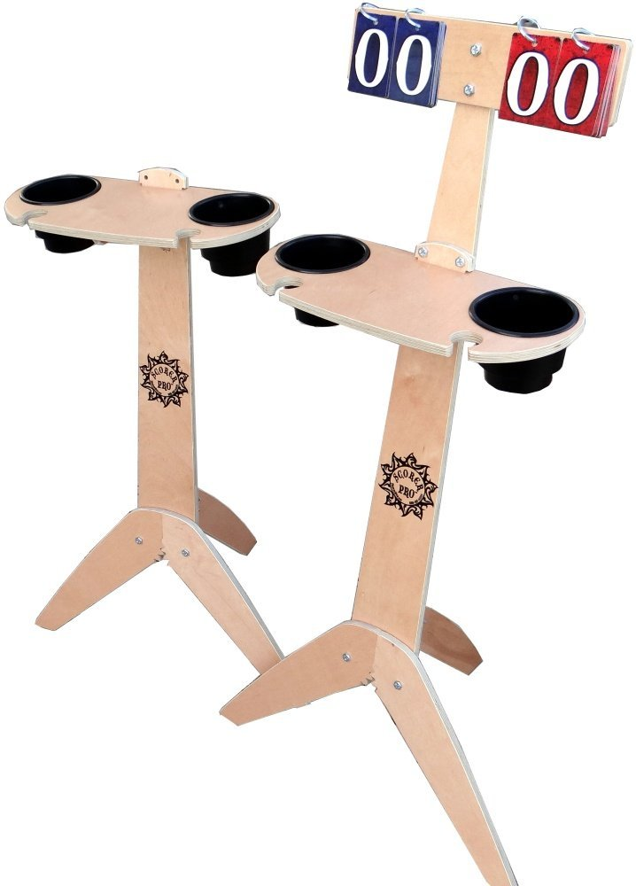 Scorer Pro Cornhole Combo Table Set (Blonde Finish)