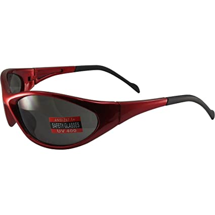210fcc0fd0 Amazon.com  Global Vision Reflex Padded Motorcycle Safety Sunglasses Red  Frame Smoke Lens ANSI Z87.1  Home Improvement