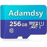 Adamdsy Tarjeta Micro SD 256 GB, microSDXC 256 GB Tarjeta De Memoria + Adaptador SD para cámaras, tabletas y Android Smartphones (H158-L1)