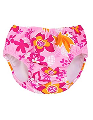 Tuga Girls Reusable Swim Diapers, UPF 50+ Sun Protection Swimsuit