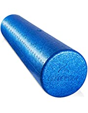 arteesol Fasciarol - massageroller voor wervelkolom - middelharde pilates yogarol 15 cm diameter en 30/45/60/90 cm lengte - full-body foam roller 3 kleuren