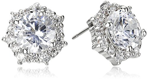 - CZ by Kenneth Jay Lane Round Cubic Zirconia Halo Stud Earrings