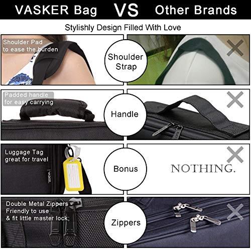 VASKER Makeup Case Professional Makeup Train Cases Holder Black