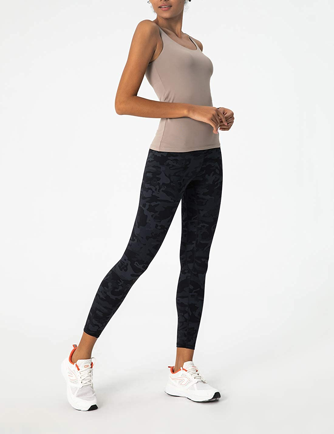 AJISAI Womens High Waist Workout Leggings Yoga Pants Tummy Control Running Pants 25 inches