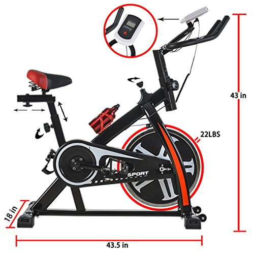 BestMassage Health & Fitness Cycling Bike Cardio Exercise Home Indoor Bike